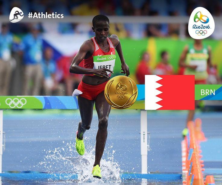 "Rio 2016 op Twitter: ""Ruth Jebet of Bahrain wins the Women's 3000m Steeplechase…"