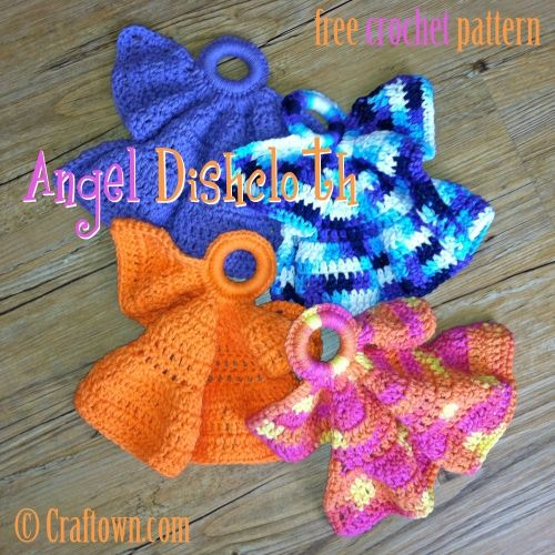 Knitted Dishcloth Angel Pattern