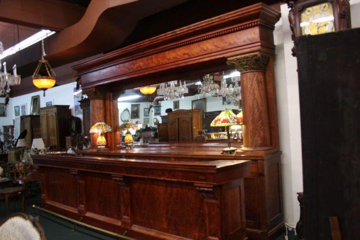 Details about Brunswick Balke - Collender Mahogany Bar ...