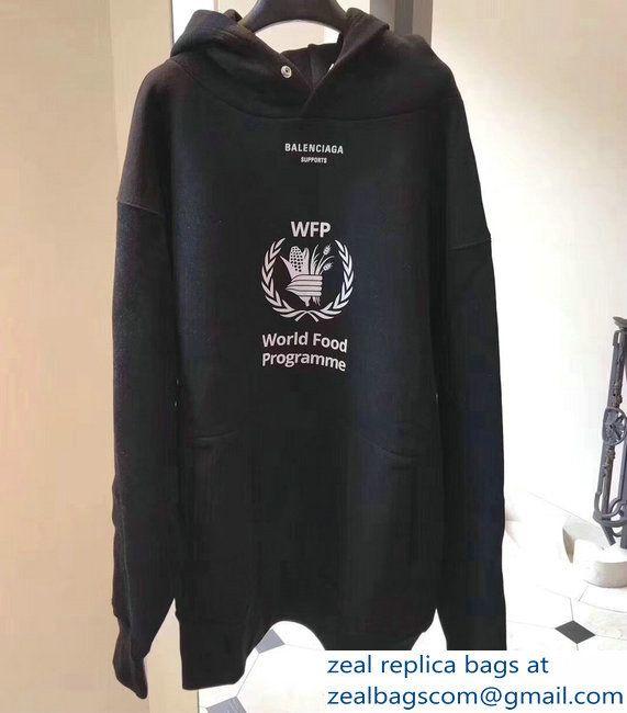 Balenciaga Supports World Food Programme Hoodie Sweater Black 2018 Sweater Hoodie Hoodies Black Sweaters