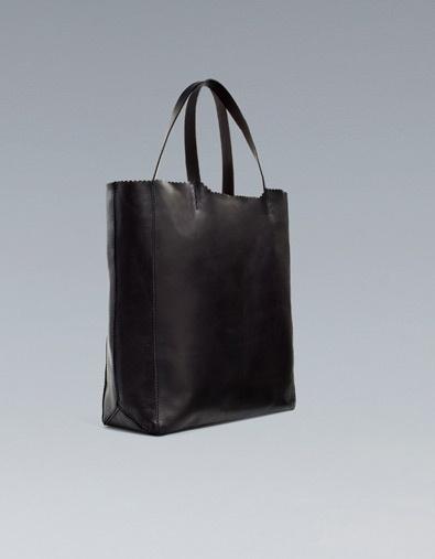 Zara Large Leather Shopper