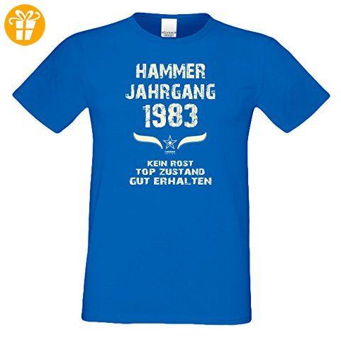 Geburtstagsgeschenk T-Shirt Männer Geschenk zum 34 .Geburtstag Hammer Jahrgang 1983 - auch in Übergrößen - Freizeitshirt Herren Farbe: royal-blau Gr: M (*Partner-Link)