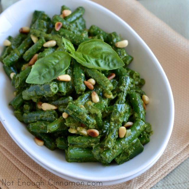 Crispy Green Beans with Pesto a delicious slow carb! learn more at www.Mydietfreelife.com