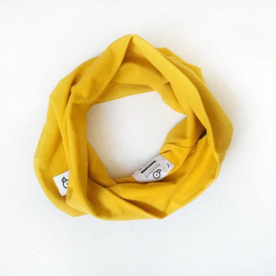 Soft Tube Scarf Mustard Kids Toddler Eco friendly by Pocopato on Etsy