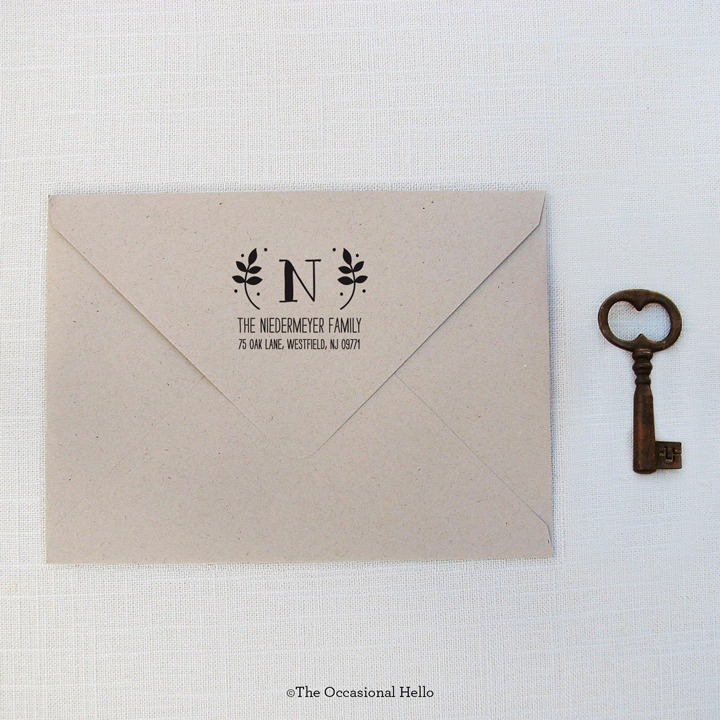 how to return address wedding envelopes%0A Love the design of this Return Address Stamp  Eraser StampWedding  EnvelopesReturn