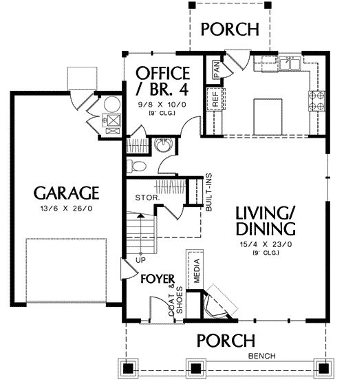 Garage Plans Blueprints 26 X 36 3 Car Traditional: Best 25+ Square Floor Plans Ideas On Pinterest