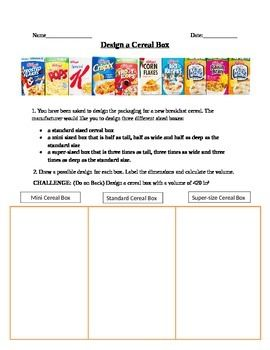17 Best Images About Cereal On Pinterest Activities Student And Math