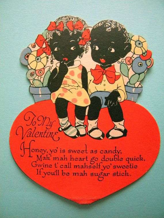 Vintage Valentine S Day Card Black Americana By Songbirdsalvation