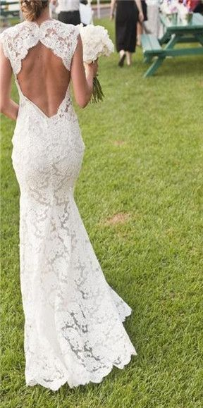lace wedding dresses... if it made a heart and was a corset at the bottom of it perfect