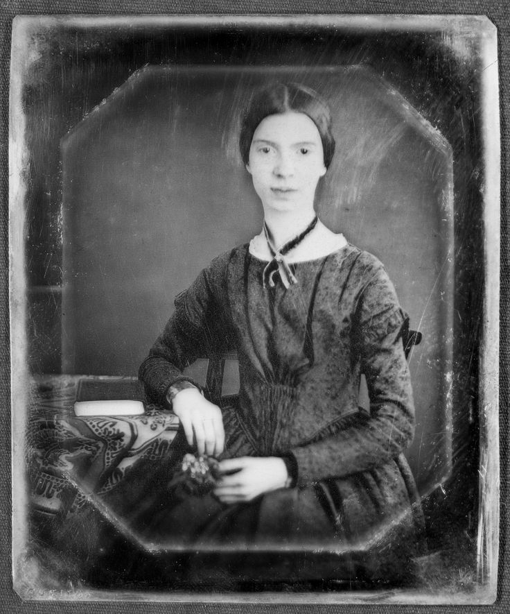 The only (maybe...) authenticated image of Emily Dickinson (aged 16) 1847
