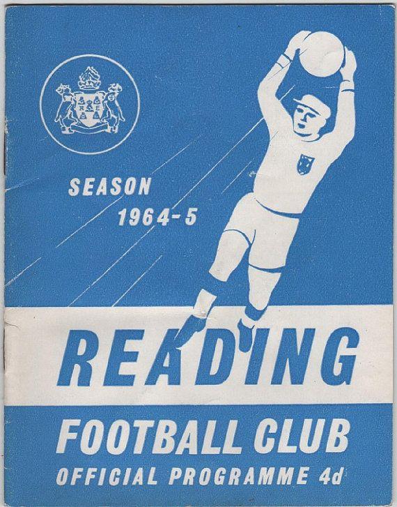Vintage Football Programme - Reading v Shrewsbury Town 1964/65 season, by DakotabooVintage on Etsy, £3.99