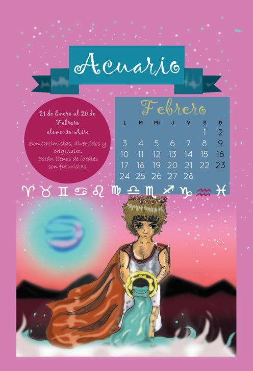 February Representing acuario