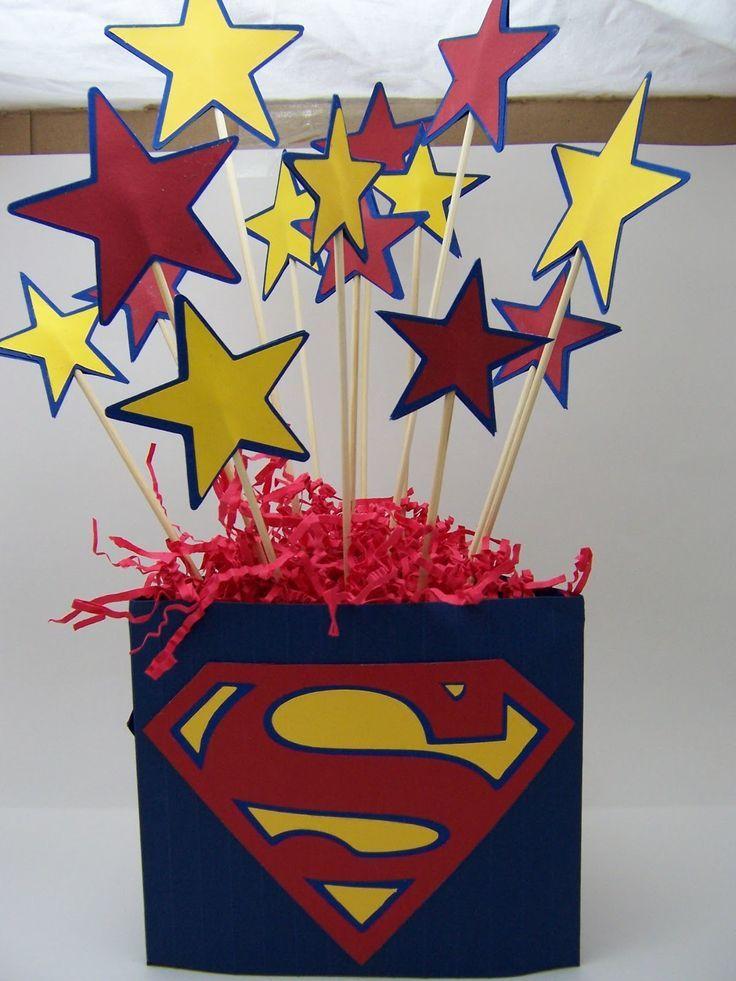 Centerpiece Idea – use WordGirl logo instead of Superman's