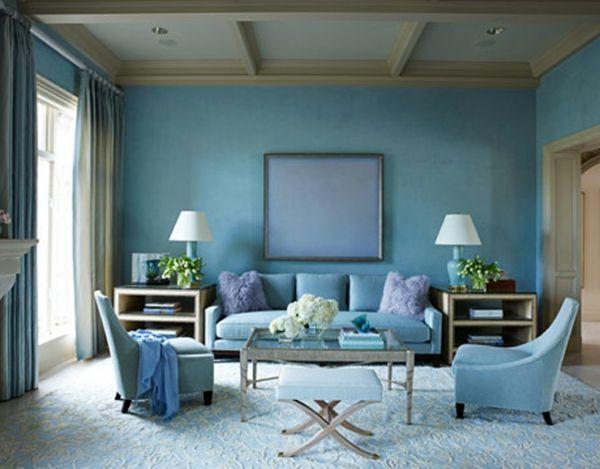 farbideen wohnzimmer blaue tne - Ideen Wohnzimmer