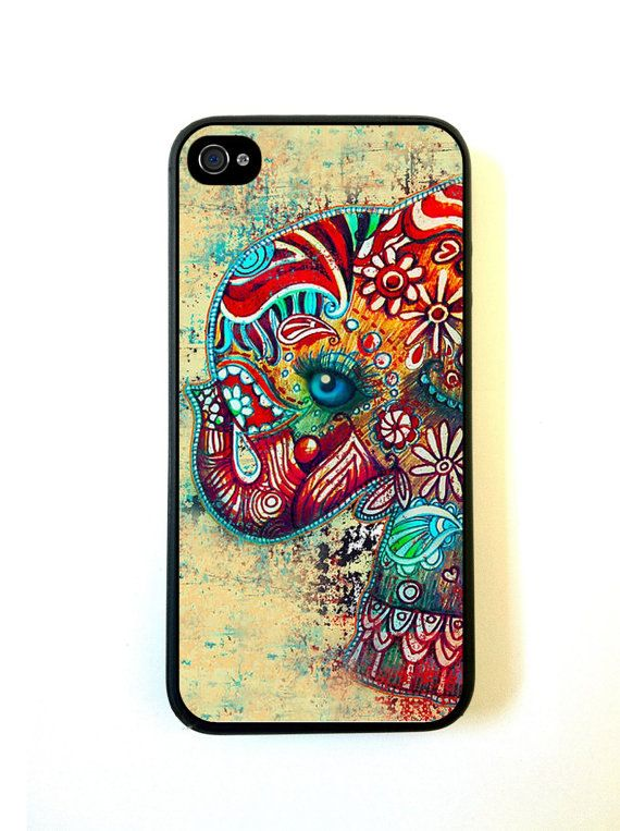Cute Elephant iPhone 5c Case - For iPhone 5c -Designer TPU Case Verizon AT&T Sprint - [ Pre ORDER - Ships Sept 25 ] on Etsy, $12.98
