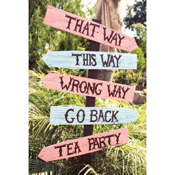 Alice Tea Party Sign | mad hatter |