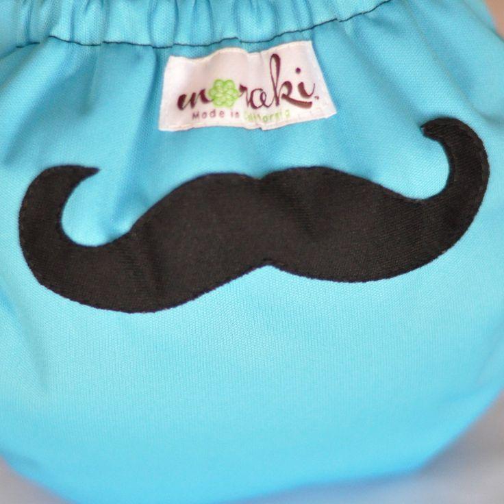 Moraki - One Size AIO Diaper ~ Mustache, $33.00 (http://www.morakicloth.com/one-size-aio-diaper-mustache/)