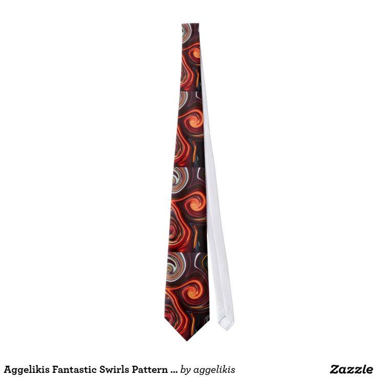 Aggelikis Fantastic Swirls Pattern Tie