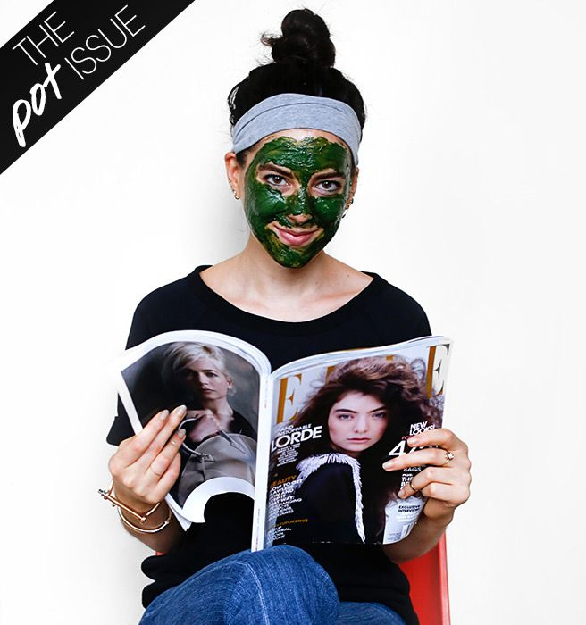 Hemp Facial DIY - How to Make a Weed Face Mask - The Pot Issue - Elle