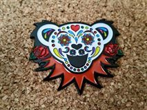 Grateful Dead Bear Hat Pin not Widespread by LegalLeafDesigns