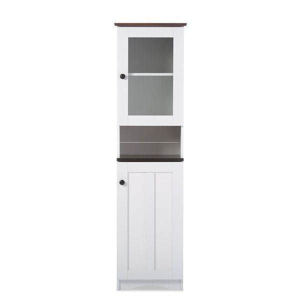 Grace your interior with the lovely design of the Lauren buffet and hutch kitchen cabinet, a distinguished unit whose appeal is synonym with classy style and the comfort of generous storage space. Manufactured using engineered wood and MDF to reveal the timeless beauty of modern and contemporary style, the Lauren comes in a versatile 2-tone aesthetic and incorporates two doors featuring metal round handles. The upper door is made of glass for direct viewing access to the shelves, providing…