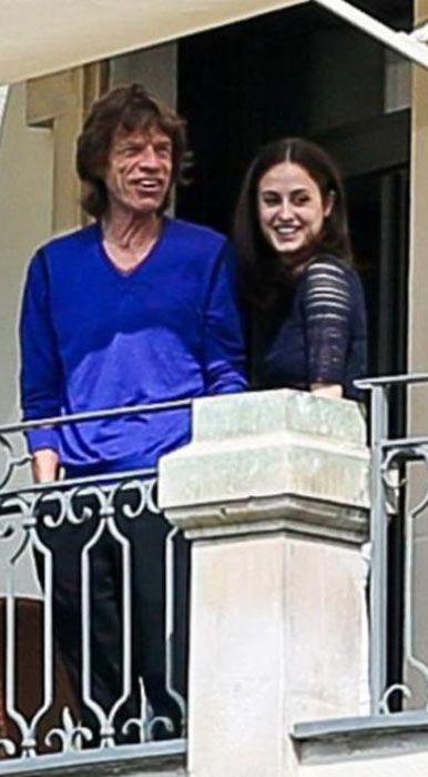 Mick Jagger with Melanie Hamrick in June 2014...