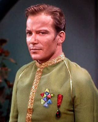 Star Trek. James T Kirk in dress uniform.