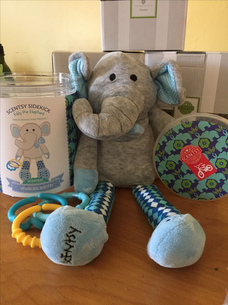 New Eddy the elephant scentsy sidekick. Super adorable & good for any child for all ages. such a cute and cuddly stuffed animal your child would love, perfect for infants.