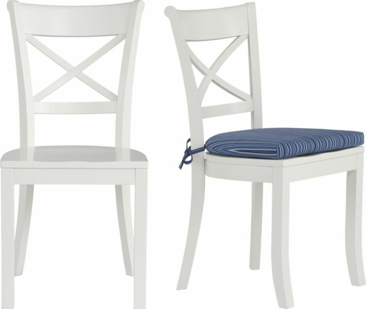 Vintner White Side Chair And Indigo Stripe Cushion In Dining Kitchen Chairs Crate And Barrel