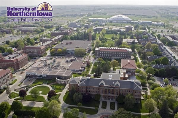 University of Northern Iowa Campus - Cedar Falls, Iowa.