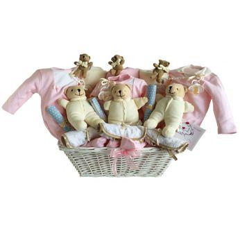 CANASTILLA PARA TRILLIZOS. Cestas para gemelos, mellizos, trillizos. Canastillas para bebés y recién nacidos.