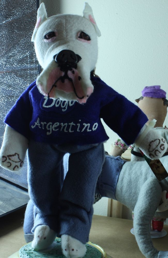 Dogo Argentino Art Doll Ooak Handmade Signed Original Felt Dog By Barbosaart Figurativesculpture Felt Dogs Dogs Dogo Argentino