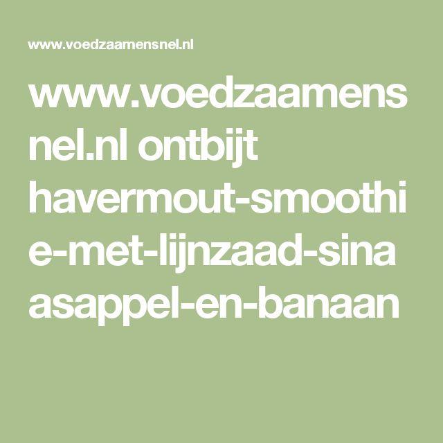 www.voedzaamensnel.nl ontbijt havermout-smoothie-met-lijnzaad-sinaasappel-en-banaan