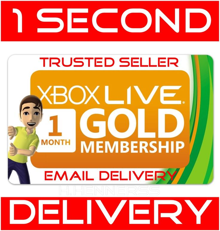 1 Month - Microsoft Xbox 360 / One Xbox Live Gold Membership (READ DESCRIPTION)