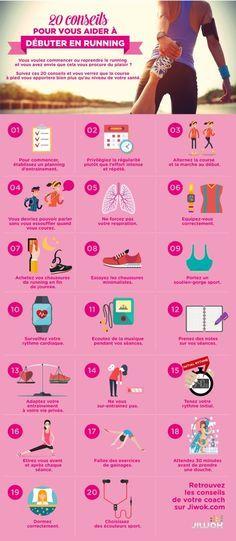 20 conseils qui vous aideront à bien débuter en running, à commencer à courir progressivement sans vous blesser et en prenant du plaisir lors de vos jogging