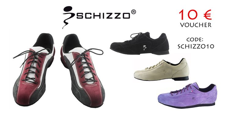 """10 € vouchers for a pair of Schizzo Tango Sneakers! Use the code """" SCHIZZO10"""" during a purchase at www.italiantangoshoes.com Only for the first 10 persons! Hurry up"""