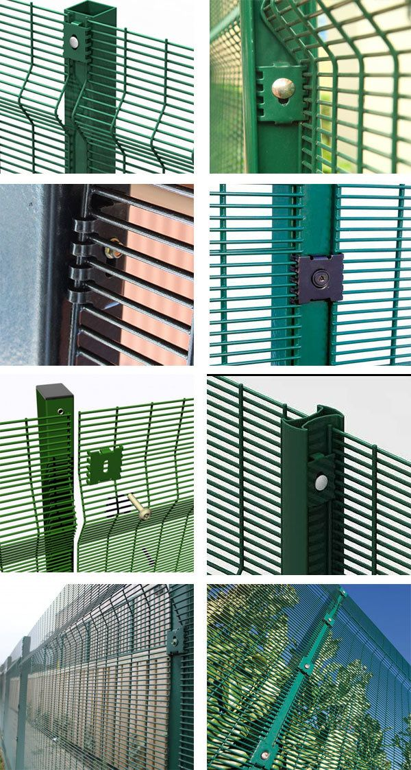 High Security Clear Vu Mesh Prison Fence Panels 358 Anti Climb Mesh En 2020