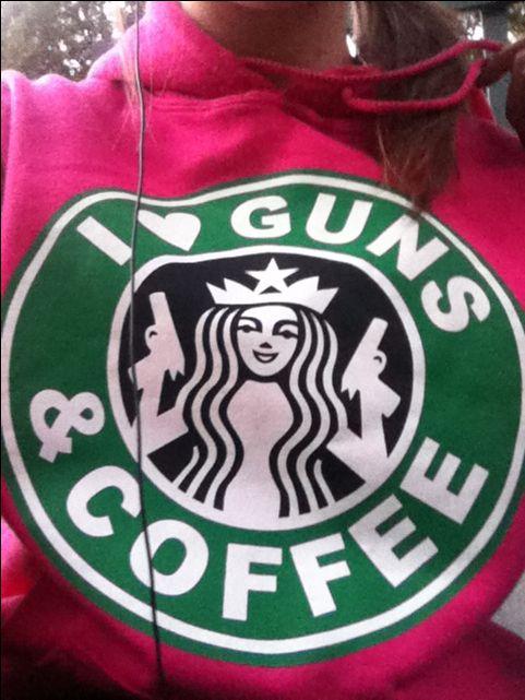 I <3 guns & coffee sweatshirt i love guns and coffee A MUST HAVE!!
