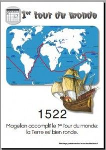 1522 Magellan réalise le 1er tour du monde