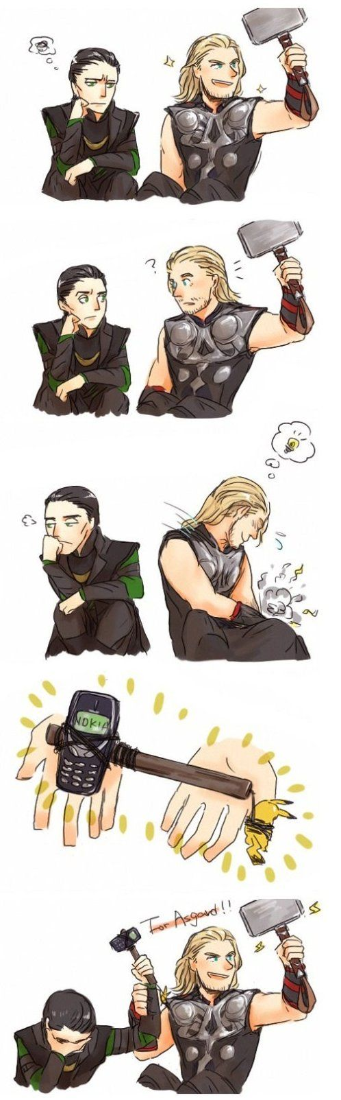Loki and Thor - Funny Pictures, LOL, Jokes and MEME updated hourly by Funny Pictures Blog