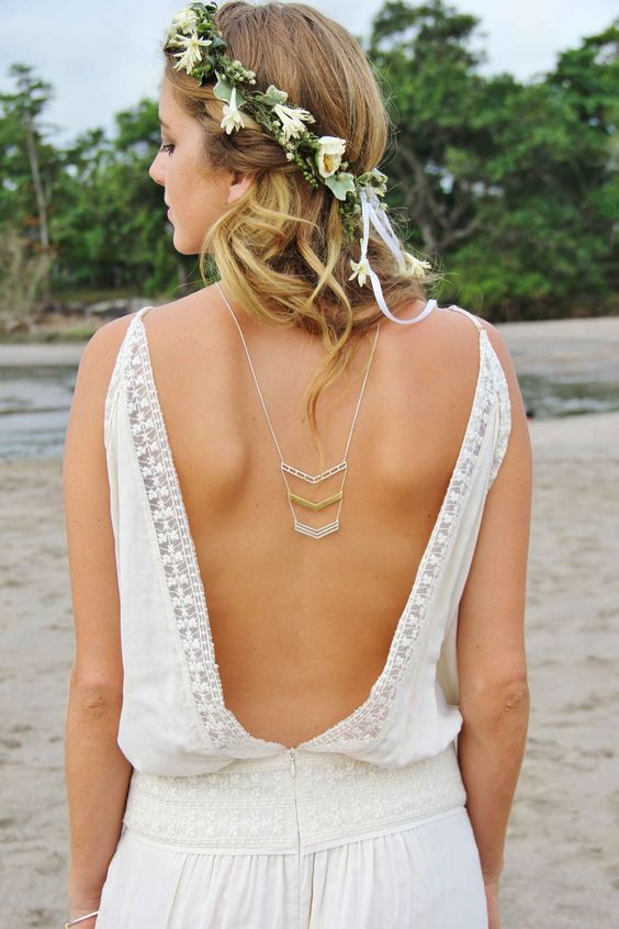Arrow back necklace #bridal #jewellery