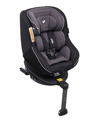 The Joie Spin 360 is a combination car seat that allows your little one to travel rear-facing for longer (from birth to approx. 4 years).  The seat will spin 360 degrees allowing you to change the seat position from rear to forward facing, as well as being able to face the door to make it easier when placing your child in and out of the seat.