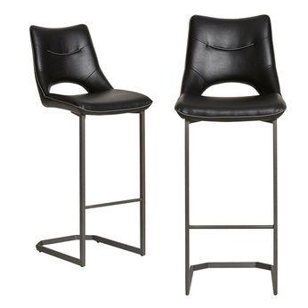chaise de bar design noire daiquiri 3 lot de 2 - Chaise Noire Design