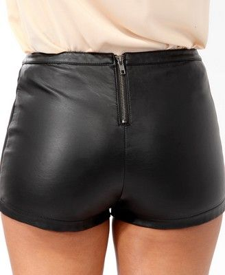 Leather shorts high waisted