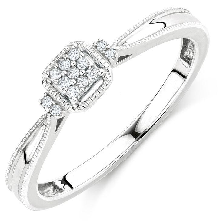 Diamond Promise Ring. Sterling silver #michaelhill