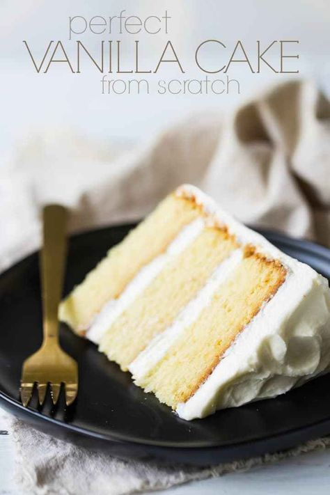 Perfect Vanilla Cake From Scratch: Ich werde nie wieder ein Vanillekuchen-Rezept backen …   – Recipes to Cook