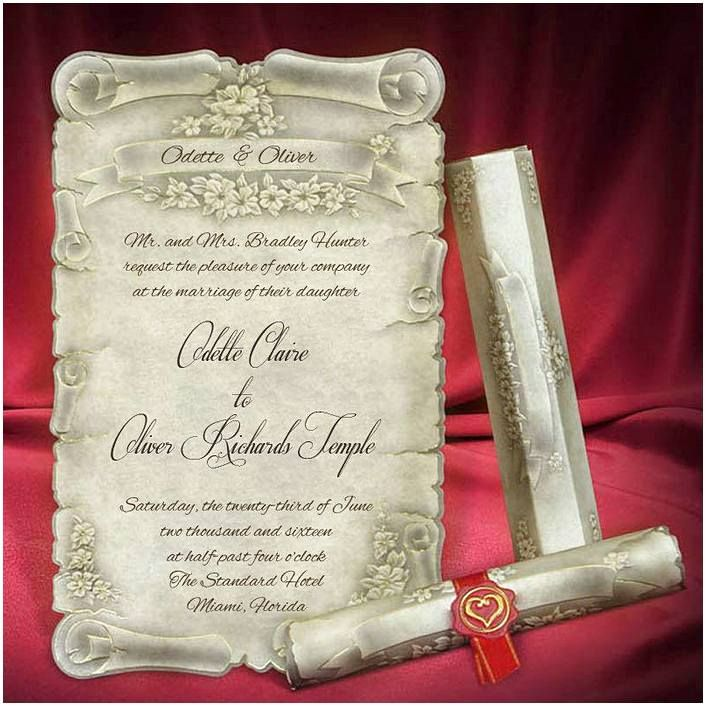 cinderellthemed wedding scroll invitations%0A unique wedding invitations The wedding invitation is one of the most  important elements of a