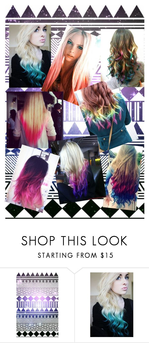 """Dip-dyed hair :)"" by kaitlynb22 ❤ liked on Polyvore featuring beauty"