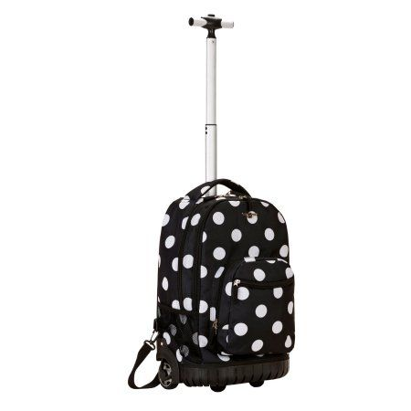 Rockland 19 inch Rolling Backpack, Multiple Colors, Black