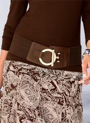 Cinturón ancho elástico mujer